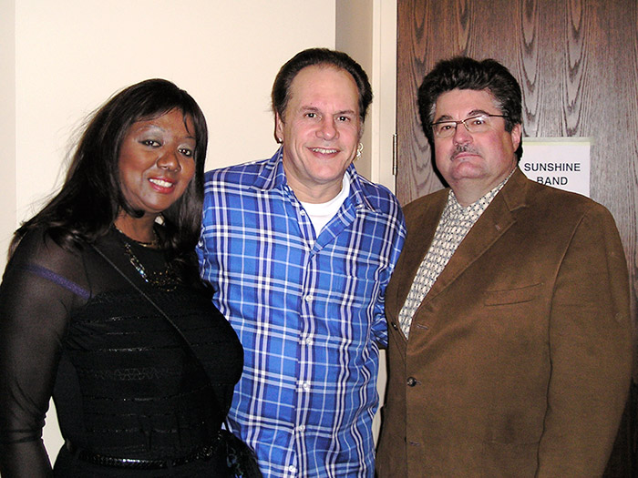 Elwood and Annette Saracuse with KC from KC & the Sunshine Band