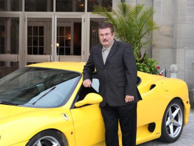 Elwood wih Yellow Ferrari